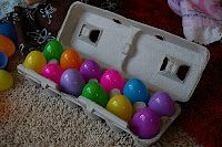 YOU`'VE JUST BEEN EGGED! A new Easter Tradition!  I can't wait til next spring! I like it for other holidays too!  Halloween: You've just been Booed!  4th of July: You've just been Sparked!  Thanksgiving: You've just been Thanked!  Great possibilities!