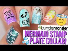 Bitch I'm a (holo) Mermaid! & a Unicorn - 2 For 1 Nail Art! - YouTube