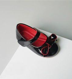 Cute Bow Knot Shoes-High Quality, Comfort & Soft! Cute Baby Infant Toddler Little & Big Girl Strap Flat Round Toe Bow Knot Wedding Birthday Shoes. Material: Pu Leather & Rubber. Colors: Pink, Red & Black. Please choose  your little girl size by Insole length.