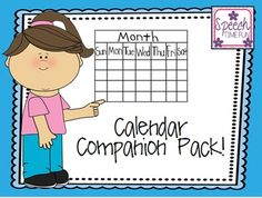 Calendar Companion: Work on a variety of speech and language goals using calendars! Work on following directions, vocabulary, grammar, compare/contrast, articulation, wh questions, and more!!