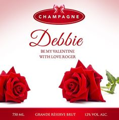 Wine, champagne, personalised champagne and more, online in Ireland with nationwide delivery. Red Roses, Valentines Day, Champagne, Twin, Place Card Holders, Tableware, Gifts, Valentine's Day Diy, Dinnerware