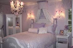 It is a room that would make any girl want to put on her tutu and twirl away. #toddler