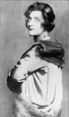 One of the latest studio portraits of Mme Coco Chanel, owner of a famous Paris dressmaking house, 1926, Paris, France.