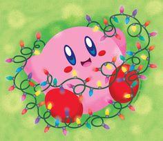 Kirby: Tangled in Lights by VampireJaku.deviantart.com on @DeviantArt