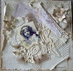 layeres of paper & lace