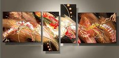 Abstract Acrylic Painting, 4 Piece Painting, Paintings for Living Room, Modern Wall Art Paintings Abstract Canvas Wall Art, Modern Painting, Abstract Wall Art Painting, Abstract Painting Acrylic, Wall Art Painting, Modern Wall Art, Abstract Wall Art, Huge Wall Art, Abstract