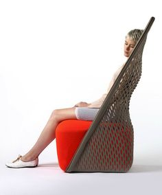 British designer Benjamin Hubert created this chair/hammock hybrid for those who don't have room for a traditional hammock, but want to be cradled in comfort.