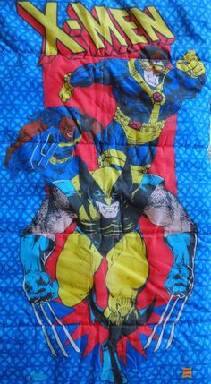Vintage 1994 X-Men Kids Sleeping Bag