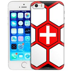 Apple iPhone SE Soccer Ball Switzerland Flag Trans Case