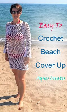 Beginner Crochet, Crochet For Beginners, Learn To Crochet, Free Crochet, Afghan Crochet Patterns, Knitting Patterns, Crochet Cover Up, Easy Crochet Projects, Crochet Tunic