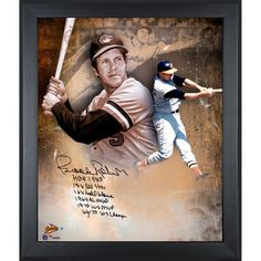 """Brooks Robinson Baltimore Orioles Fanatics Authentic Framed Autographed 20"""" x 24"""" In Focus Photograph with Multiple Inscriptions-#2-23 of a Limited Edition of 24 - $349.99"""