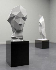 Sculptures antiques et alterations digitales de Zach Dougherty