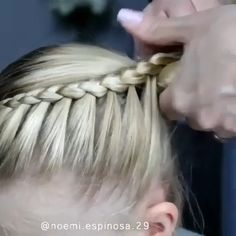 Baby Girl Hairstyles, Easy Hairstyles For Long Hair, Braids For Long Hair, Braided Hairstyles, Viking Hairstyles, Toddler Hairstyles, Hairstyle Ideas, Girl Hair Dos, Hair Upstyles