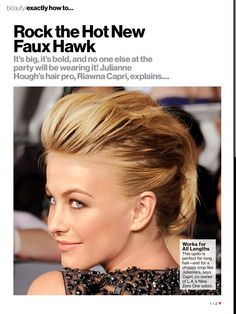 Faux hawk to rock out a wedding??
