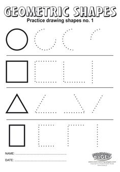 Practice drawing shapes no 1 - Cool Coloring Pages Preschool Learning Activities, Kindergarten Worksheets, Preschool Activities, Kids Learning, Kindergarten Coloring Pages, Montessori Math, Geometric Shapes Drawing, Shapes Worksheets, Tracing Worksheets