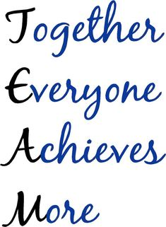 TEAM everyone  achieves ...........        wall by designwithvinyl, $17.95