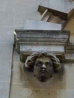 moorish corbel head, Redland Chapel, Bristol