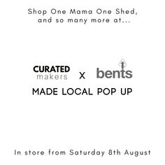This. Is. Happening!  This is the first IRL pop up since Covid. We don't know how it will go but it feels like a step in the right direction. Thank you @curatedmakers for always flying the indie flag - we couldn't do it without you!  @bentsgardenhome here we come! If you are local and fancy getting your made-local fix please do head on down from Saturday to fill your basket and show your support.  And for those who may be concerned...we've heard on the grapevine that Bents have been open… Without You, Grape Vines, Pop Up, You Got This, Fill, Indie, Basket, Fancy, Shit Happens