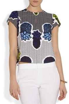 Moschino Cheap and Chic|Printed cotton top|NET-A-PORTER.COM  Pour Christine