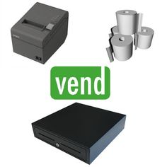 Vend POS Hardware Bundle compatible with Vend Point of Sale Software with use on a PC or MAC. Please Note this will NOT work with iPad.   The Bundle Includes:  1 x Epson TM-T82II Thermal Receipt Printer - USB Interface  1 x Cash Drawer with 5 Notes & 8 Coin Sections  1 x Box 80x80 Thermal Paper Rolls (24Qty) Cash Box, Mobile Price, Ipad Stand, Point Of Sale, Pos, Android Apps, Ipod Touch, Printer, Bluetooth