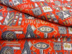 Japanese kimono fabric - very retro!