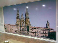 Vinilo decorativo en impresión digital en gran formato, de la Catedral de Santiago