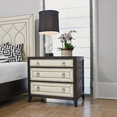 Ambella Home Collection - Manhattan Night Stand - 3 Drawers - 24027-230-002