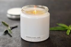 VERBENA  &  CLARY SAGE CANDLE, £12 (yellow gorse, Swanage)