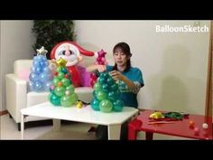 Balloon Christmas Tree - YouTube