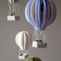 paper art hot air balloon