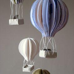 paper art hot air balloon