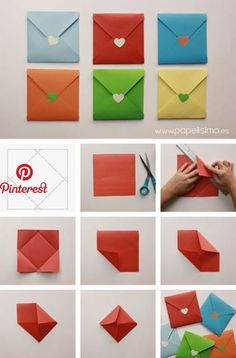 Manualidades e ideas para tus fiestas infantiles: Manualidades para decorar su fiesta | DIY Crafts | Pinterest | Diy origami, Diy envelope and Origami