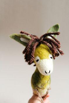 Feodor  Felt Donkey. Art Toy. Felted toy  by TwoSadDonkeys on Etsy