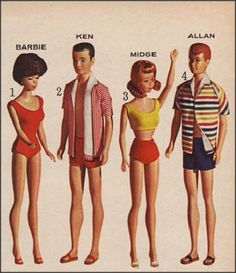 Barbie and The Gang! 1964 *Wonder whatever became of Allan...*