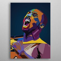 Kobe Bryant, Pop Art Posters, Poster Prints, Pop Art Portraits, Basketball Art, New Artists, Resin Art, Cool Artwork, Love Art