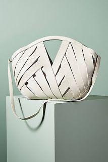 Anthropologie large woven white basket bag - My Favorites Bag For Women Purses And Handbags, Leather Handbags, Leather Totes, Leather Bags, White Leather, Leather Purses, Fashion Bags, Fashion Accessories, Sacs Design