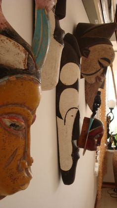 African Masks. Wall décor option for dining room