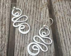 Silver Jewelry//Silver Earrings//Silver Aluminum Earrings//Designed by LydiaZ//lightweight & simply beautiful/boho earrings
