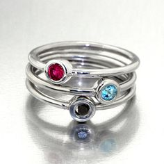 DeLights stackable gold rings, mothers ring, birthstone rings by Arosha Taglia