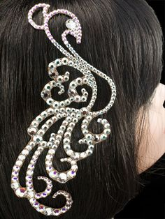 Hair bling for ballroom. Visit http://ballroomguide.com/comp/hair_make_up.html for more hair and makeup info