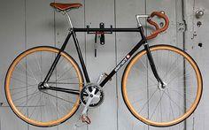 Element x Krabo single speed track bike with wood wheels - Doobybrain.com