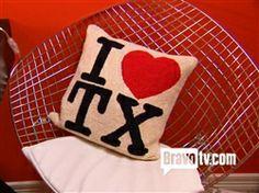 I Heart Texas Pillow