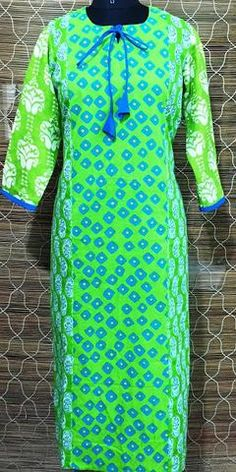 Green Magic Kurti
