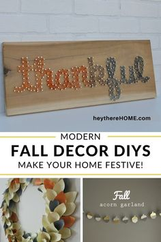 So many great ideas to decorate your home for fall in a really modern way. #modernfalldecor #falldecor #falldecorideas #falldiy