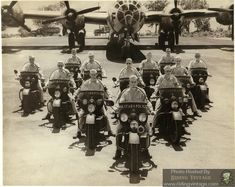 Riding Vintage article on the US Military Police astride their Harley-Davidson Motorcycles. Harley Davidson Wla, Harley Davidson Parts, Vintage Harley Davidson, Harley Davidson Motorcycles, Bike Rally, Pilot, Motorcycle Rallies, Military Police, Bmw