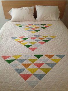 "Simple, yet simply lovely ""Three Flocks"" quilt by Brigit Gail."