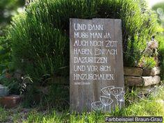 Gartendekoration - Gartendeko Holz Sprüche DEKOSCHILD XL - ein Designerstück von melkey bei DaWanda