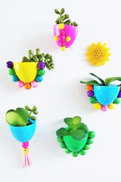 Turn your used plastic eggs into magnetic planters! Easy Crafts, Crafts For Kids, Pom Pom Tree, Dramatic Play Centers, Plastic Eggs, Mini Eggs, Classroom Projects, Imaginative Play, Nature Crafts
