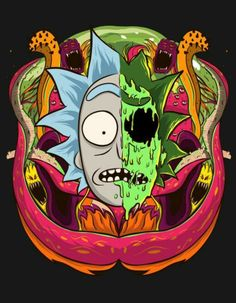 Dope Wallpaper Iphone, Hippie Wallpaper, Dope Wallpapers, Cartoon Wallpaper, Trippy Rick And Morty, Rick And Morty Drawing, Ricky Y Morty, Rick And Morty Characters, Rick And Morty Stickers