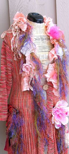 One of a Kind Unique Art to Wear Romantic by JacketsbyJahne, $200.00